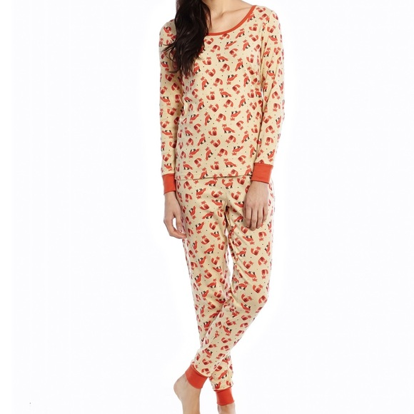 Leveret Other - Leveret Woman s Fox Print Pajama Set a7ef302ae